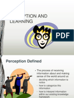 Lec 3 Perception and Learning