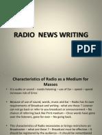 Radio News Writing