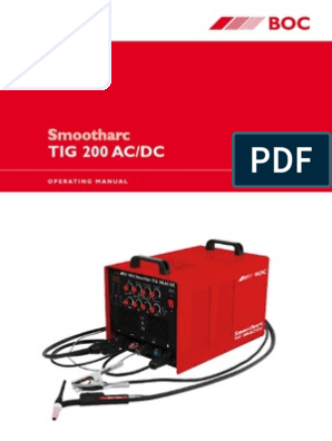 BOC_Smootharc_Tig_200_ACDC_Manual   Welding   Steel