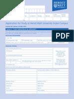 Dubai Application Form