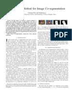 A Spectral Method for Image Co-segmentation