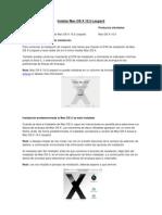 Instalar Mac OS X 10
