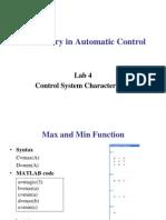 Laboratory in Automatic Control Lab4