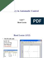 Laboratory in Automatic Control Lab7