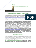 Traditional Herbal Medicine Under Threat