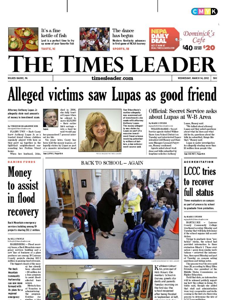 Times Leader 03-14-2012 | Wilkes Barre | Gaza Strip