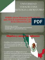 NORMA Oficial Mexicana NOM 166 SSA1 1997