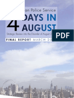 Metropolitan Police Service Report (4 days in August)