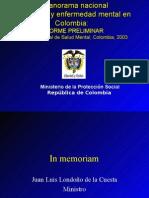 INFORME PRELIMINAR Estudio Nacional de Salud Mental, Colombia, 2003