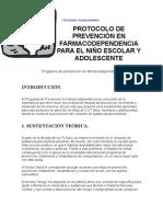 Protocolo de PrevenciÓn en cia Para El NiÑo Escolar y Adolescente