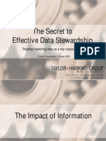 The Secret of Effective Data Stewardship