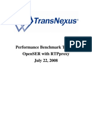 OpenSER RTPproxy Benchmark Test   Session Initiation