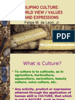 Filipino Culture - World View, Values and Expressions 1