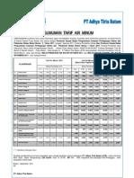 Tarif Air Minum PT Adhya Tirta Batam Berlaku Mulai Faktur November 2011