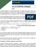 Evaluation of Definite Integral