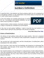 Real Numbers Definition