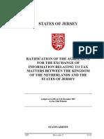 TIEA agreement between Netherlands and Jersey