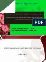 HE - Perkembangan Parti Politik Di Sabah dan Sarawak dan Proses Politik Memupuk Perpaduan