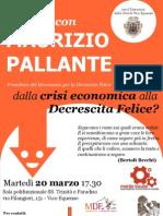 Locandina Decrescita Felice Incontro Con Maurizio Pallante - Vico Equense 20 03 2012