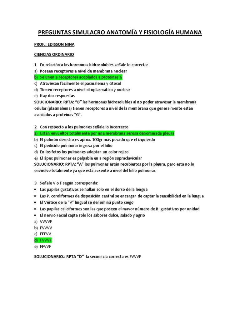 Famoso Nivel 3 Anatomía Y La Fisiología Cuestionario Foto - Imágenes ...