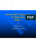 Access VBA-Programming-for-Beginners-Class-1
