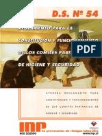 Decreto 54 Comites Paritarios de Higiene y Seguridad