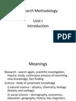 Research Methods-Unit I