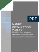 Manuel Installation Zimbra