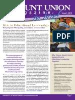 Mount Union Magazine in Brief, Issue I 2012