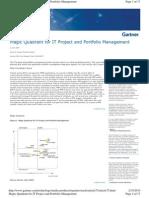 Magic Quadrant for IT Project and Portfolio Management