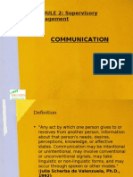 Communication -Part of Lesson II