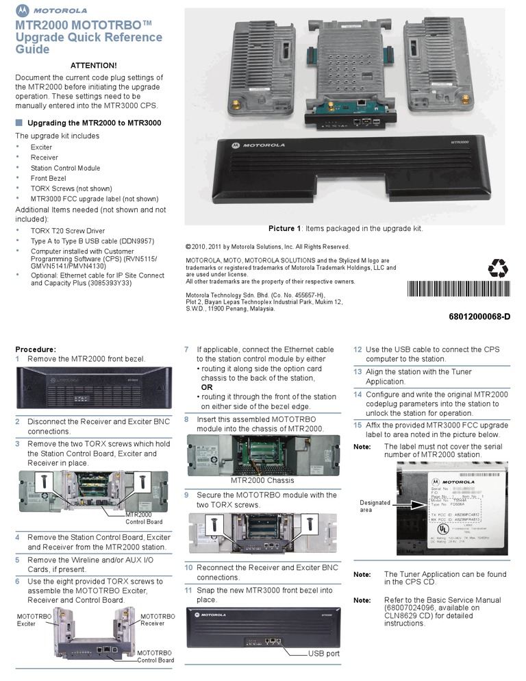 MTR2000 MOTOTRBO™   Motorola   Computing