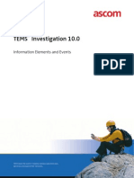 TEMS Investigation 10.0 IEs and Events