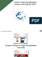 ESOT Case Study TNOC.ch European Society for Organ Transplantation Conference Innovations