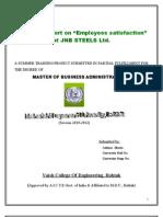 My Project on Employee Satisfaction