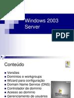 Trabalho Windows 2003 Server