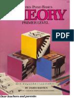 Bastien J. - Piano Basics Theory Primer Level