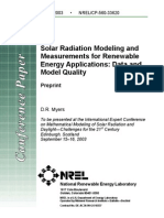 NREL - Solar Radiation Modeling and Measurements for Renewable Energy Applications - Data and Model Quality