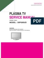 Service Manuals LG TV PLASMA 50PG60UD 50PG60UD Service Manual