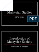 Malaysian Studies Lesson 1