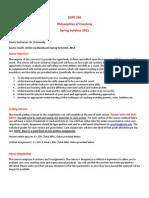 Philosophy of Coaching - EDPE 230 OL1 - Course Syllabus