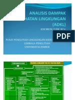 Analisis Dampak Kesehatan Lingkungan (Adkl)