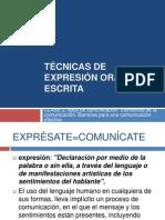 TÉCNICAS DE EXPRESIÓN ORAL Y ESCRITA CLASE 2. tipos, elementos y barreras de la C