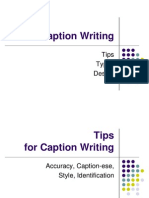 Cption Writing