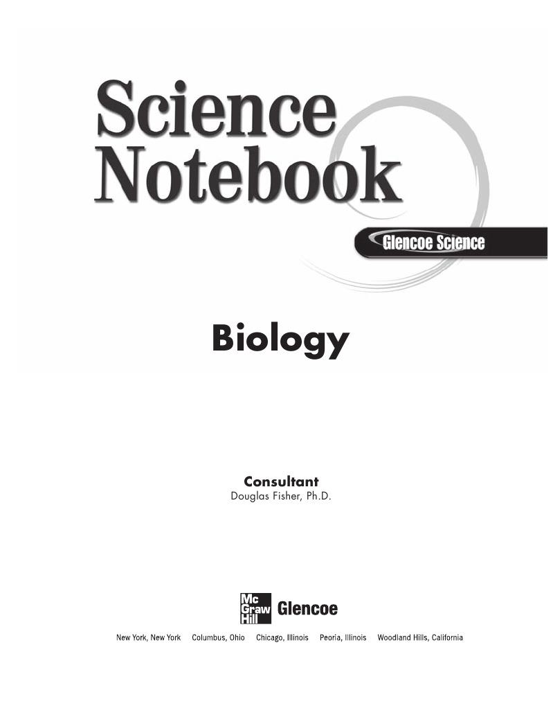 Biology Notebook for All Bio Classes Food Web – Glencoe Biology Worksheets