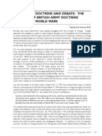 Technology, Doctrine and Debate, British Army Doctrine Between the World Wars, CAJ Vol 7.1
