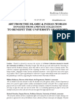 Art From The Islamic & Indian Worlds  Donated From A Private Collection  To Benefit The University Of Oxford