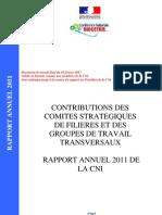 Contributions des comités stratégiques de filières et des groupes de travail transversaux