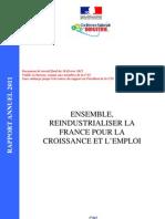 Ensemble, réindustrialiser la France pour la croissance et l'emploi