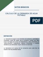 CÁLCULO DE LA DEMANDA DE AGUA POTABLE